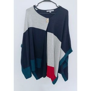 NWT Marc New York Multicolor Poncho Sweater Top